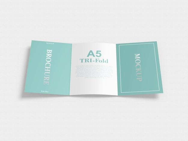 A5 삼중 모형 프리미엄 PSD 파일