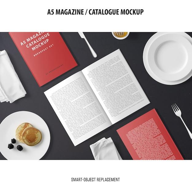 A5 журнал каталог макет Бесплатные Psd