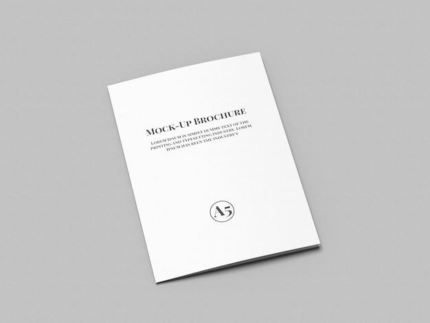 A5三つ折りパンフレットモックアップ Premium Psd