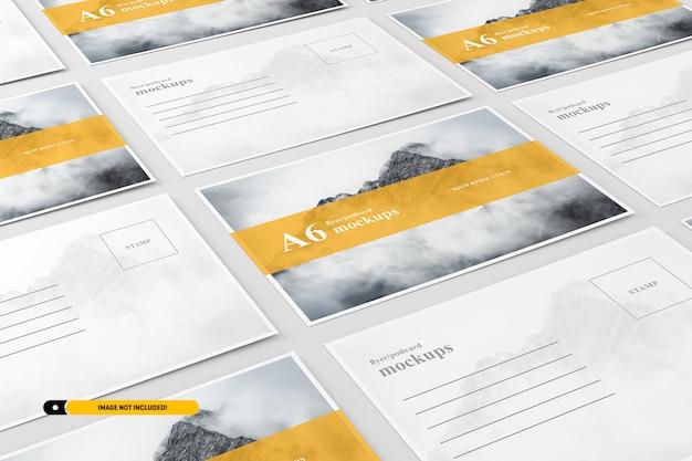 A6 postcard / flyer mockup Premium Psd