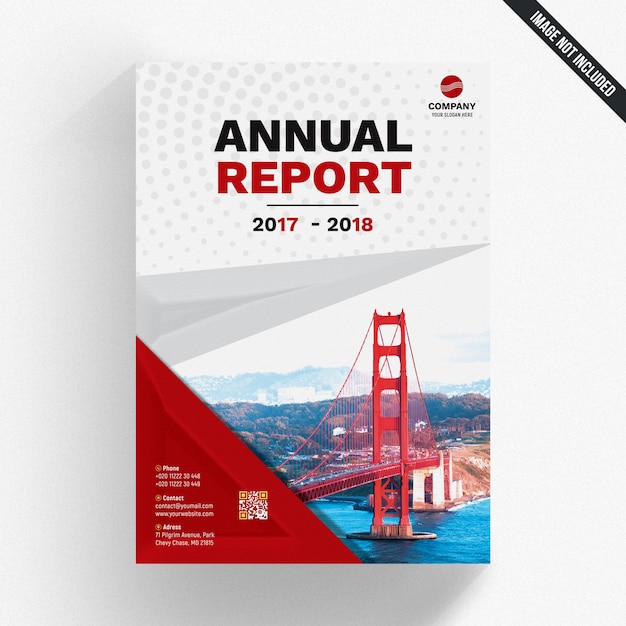 Abstract Annual Report Template Psd File Premium Download