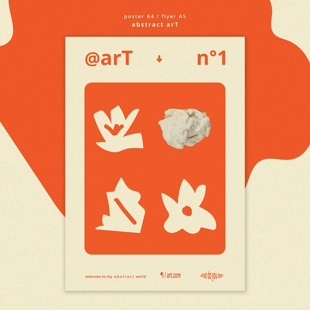 Abstract art ad template poster Free Psd