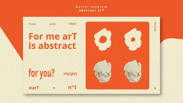 Abstract art banner template Free Psd