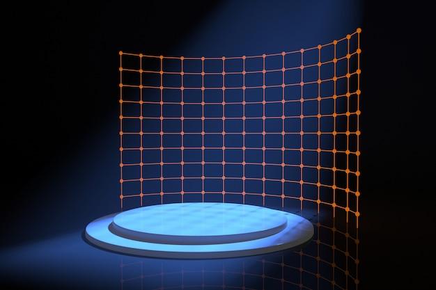 Абстрактная фоновая сцена для рендеринга дисплея продукта Premium Psd
