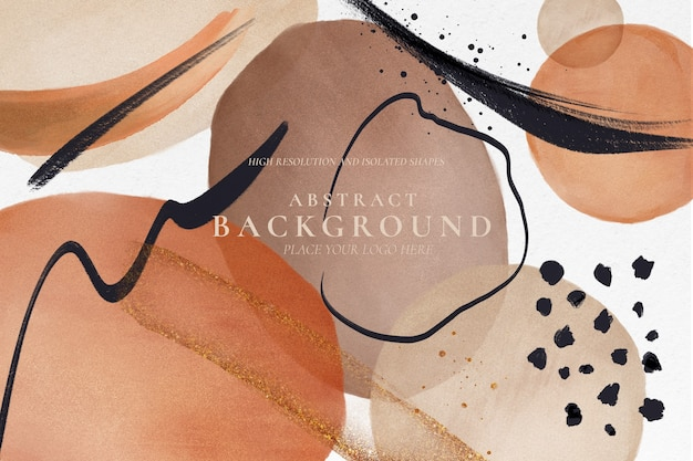 Abstract background with colorful painted shapes Free Psd