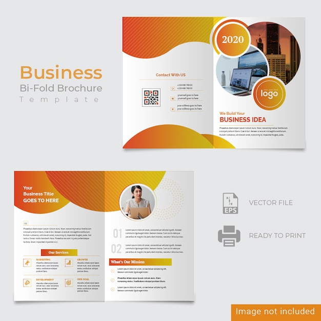 Abstract bifold corporate design Premium Psd