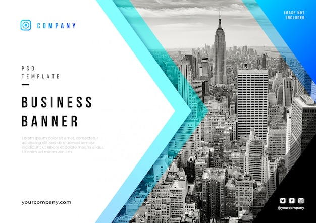 Abstract business banner psd template Free Psd