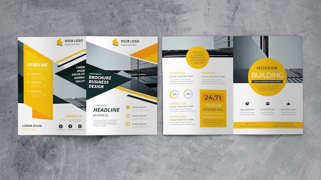 Abstract business brochure mockup Free Psd