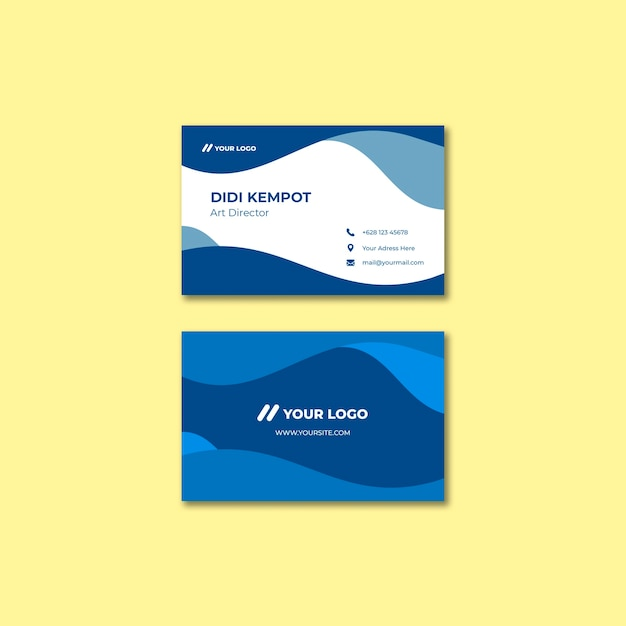 Abstract business card template Free Psd