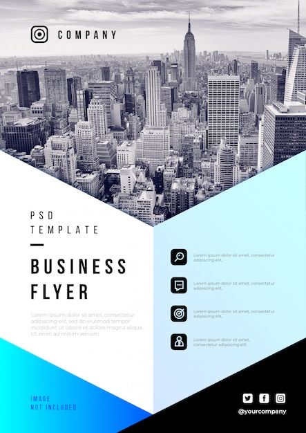 Abstract business flyer psd template Free Psd