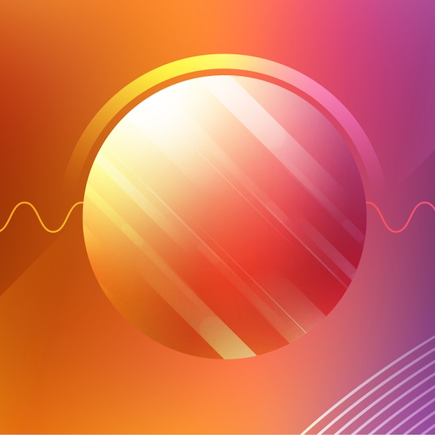 Abstract circle background Free Psd