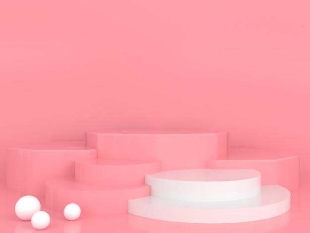 추상적 인 기하학적 모양 파스텔 색상 최소한의 현대적인 스타일 개념 프리미엄 PSD 파일
