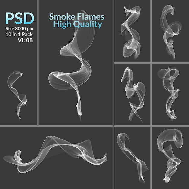 Abstract high quality smokes Premium Psd