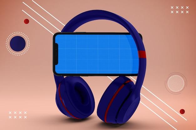 Абстрактное мобильное музыкальное приложение макет Premium Psd