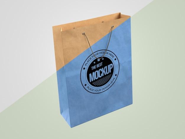 紙袋と抽象的なモックアップ商品 Premium Psd