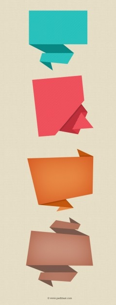 Abstract Origami Speech Bubble (PSD) PSD file | Free Download