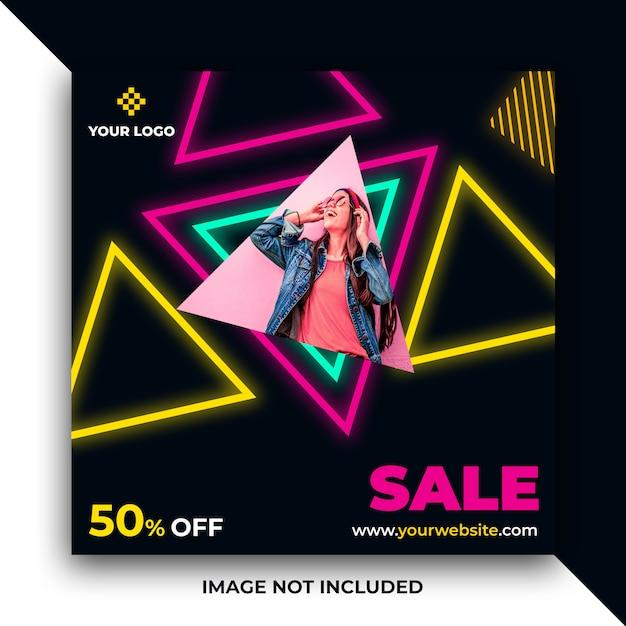 Abstract sale web social media post banner Premium Psd