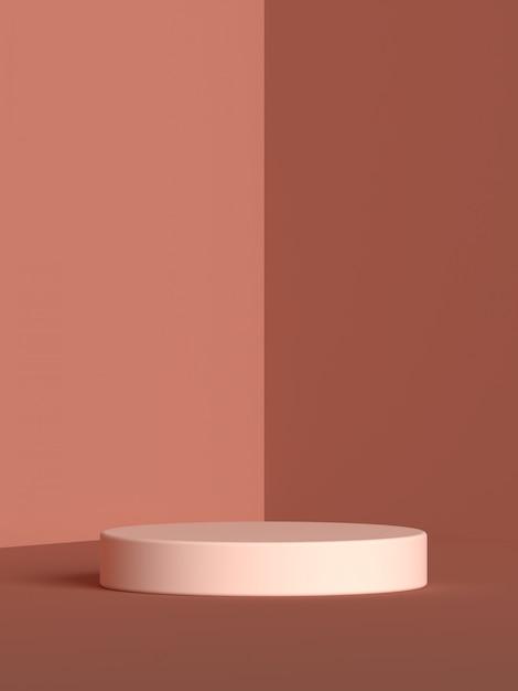 Абстрактная сцена геометрия форма рендеринга подиума Premium Psd