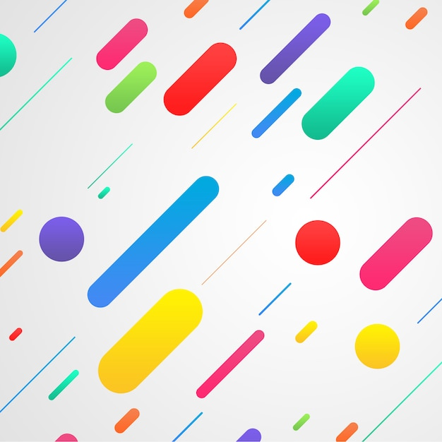 Abstract shapes on white background Free Psd