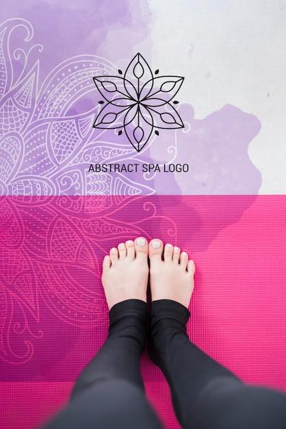 Шаблон логотипа абстрактный спа салон Бесплатные Psd