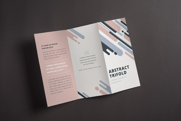Abstract trifold brochure mockup Free Psd