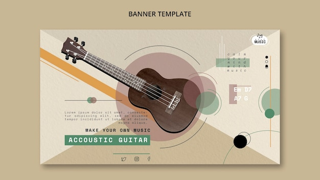 Acoustic Guitar Lessons Banner Design Free Psd File