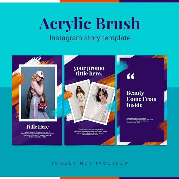 Acrylic instastory instagram story template Premium Psd