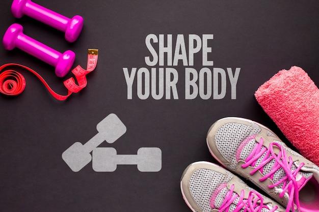 Classe e attrezzatura di fitness attive Psd Gratuite