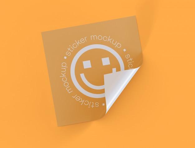 Adhesive Sticker Mockup