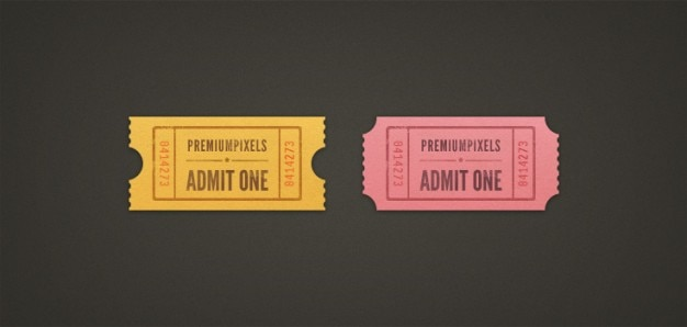 Admit one ticket stubs (psd) Free Psd
