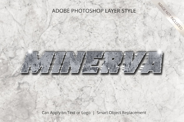 Adobe photoshop layer style text effect Premium Psd