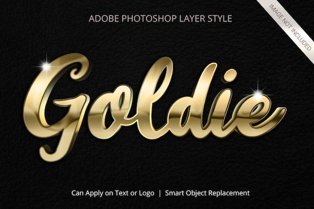 Adobe photoshop layer style text effect Premium Psd