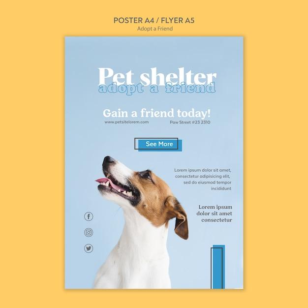 친구 포스터 디자인을 채택하십시오 무료 PSD 파일