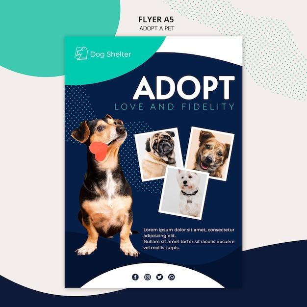 Принять шаблон флаера для животных Бесплатные Psd