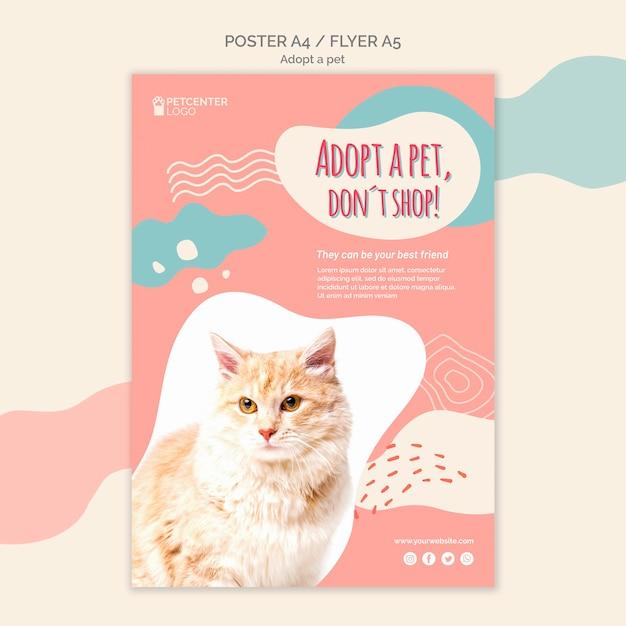 Принять стиль шаблона постера для домашних животных Бесплатные Psd