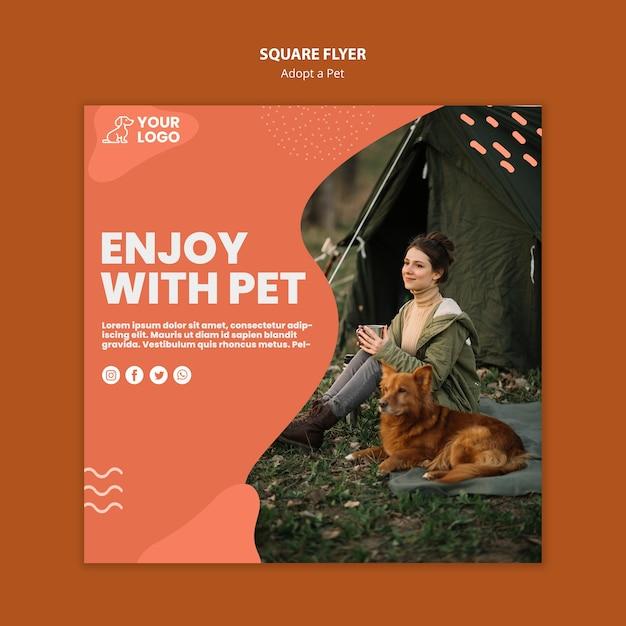 애완 동물 광장 전단지 스타일을 채택 무료 PSD 파일