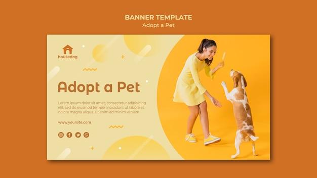 Adopt a dog banner template Free Psd