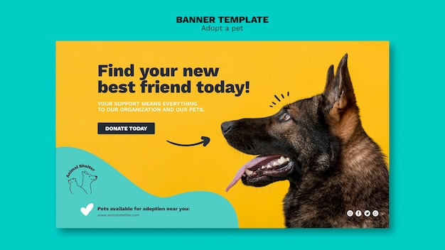 Adopt A Pet Banner Design Free Psd File