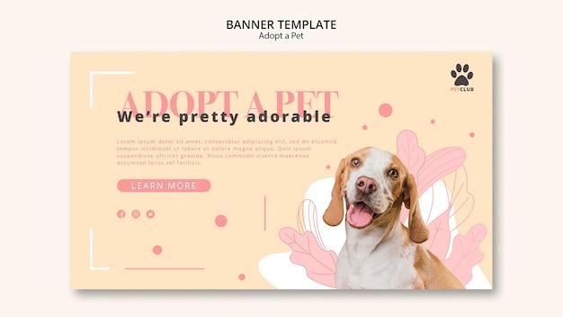 애완 동물 배너 템플릿 디자인을 채택 무료 PSD 파일