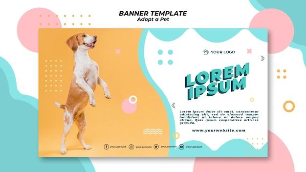 애완 동물 배너 템플릿 테마를 채택 무료 PSD 파일