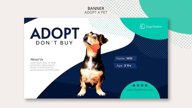 Adopt a pet banner template Free Psd