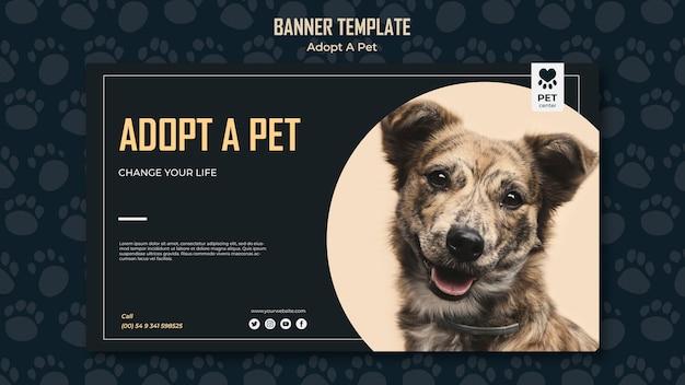 Adotta un modello di banner concetto animale domestico Psd Gratuite