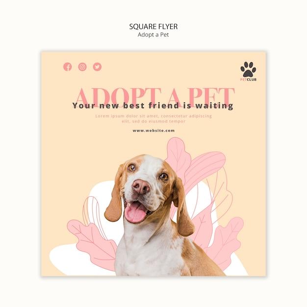 전단지 템플릿-애완 동물 채택 무료 PSD 파일