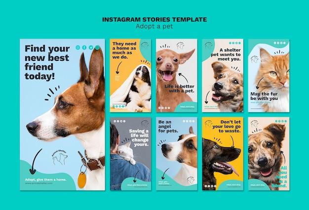 Adopt a pet instagram stories Free Psd
