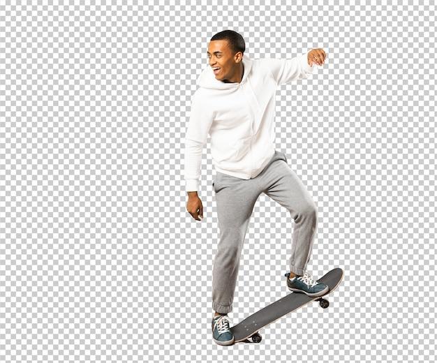 Afro american skater man Premium Psd