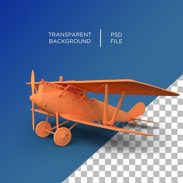 공기 비행기 오래 된 3d 렌더링 프리미엄 PSD 파일