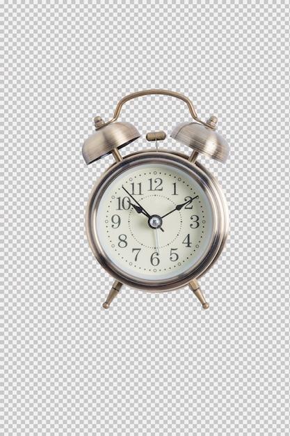 Alarm clock isolated on white background Premium Psd