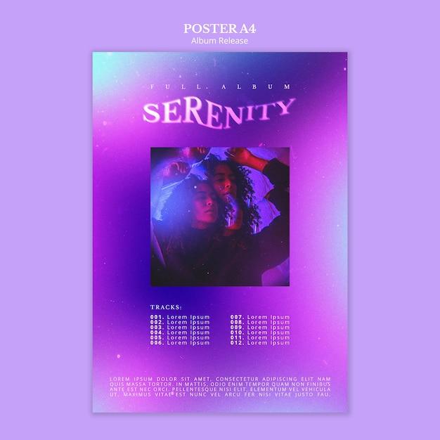 Modello di poster di rilascio dell'album Psd Gratuite