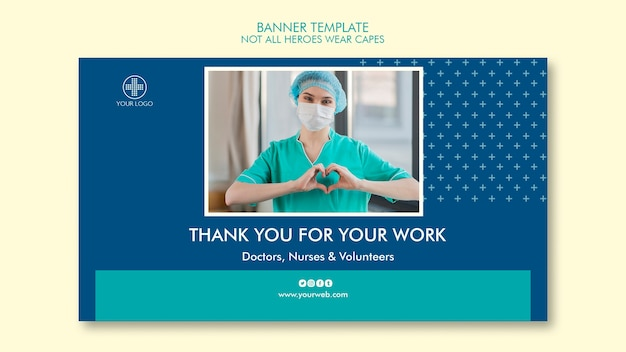 Not all heroes wear capes banner design Free Psd