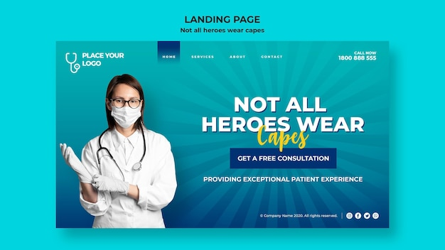 Not all heroes wear capes concept template Free Psd